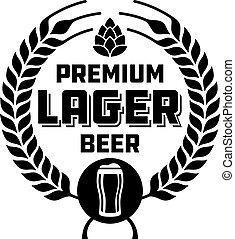 Lager Beer Badge or Label. - Craft beer vector design...