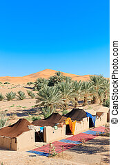 lager, in, wüste