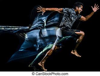 lager, stiefel, freigestellt, trx, schwarzer hintergrund, fitness, übungen, mann