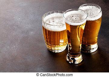 lagerbier, bier, becher