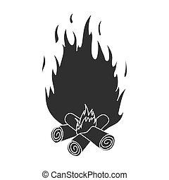 ikone einfache stil lagerfeuer web einfache stock illustration suche vektor clipart. Black Bedroom Furniture Sets. Home Design Ideas