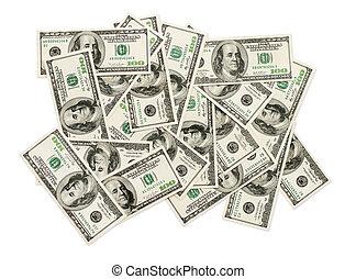 lagförslaget, dig. s.  dollar, en hundra, stack