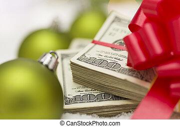 lagförslaget, dollar, bog, agremanger, stack, hundra, jul