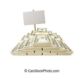 lagförslaget, dollar, en, tom, vit, hundra, buntar, underteckna