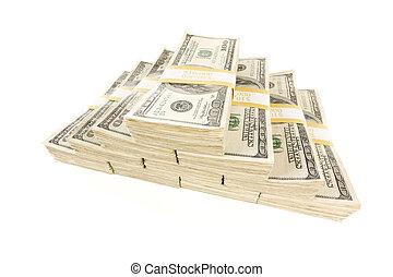 lagförslaget, dollar, en, vit, hundra, buntar