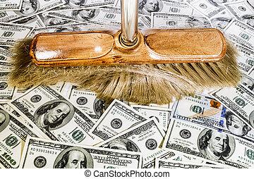 lagförslaget, kvast, dollar, en hundra, över