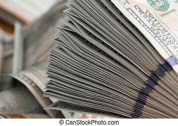 lagförslaget, trä, dollar, en hundra, tabell., stack