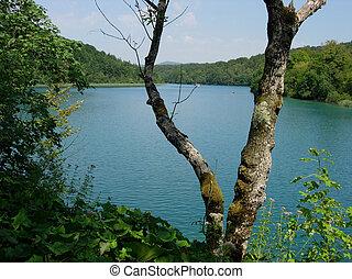 laghi, in, plitvice, parco nazionale, croazia