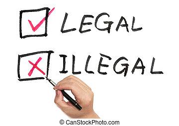 laglig, eller, illegal