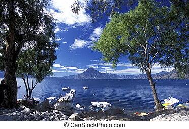 lago, américa, latín, guatemala, atitlan