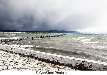 lago azul, em, patagonia, chile
