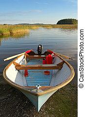 lago, barco