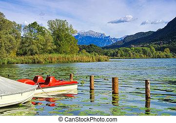 Lago di Piano in northern Italy