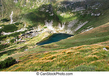 lago, em, montanhas