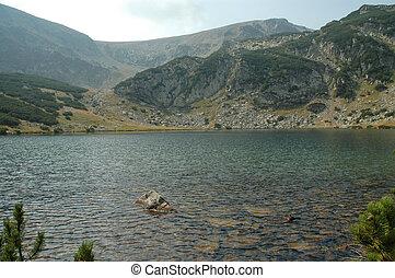 lago, en, parang, montañas, rumania