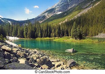 lago, en, sabwatcha, cañón