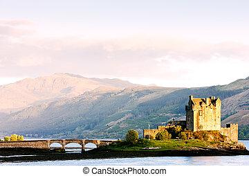 lago, escocia, donan, castillo, eilean, duich