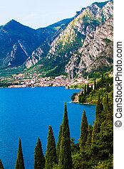 lago, garda, -, itália