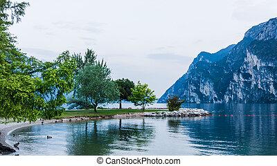 lago, garda, itália