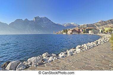lago, garda., itália