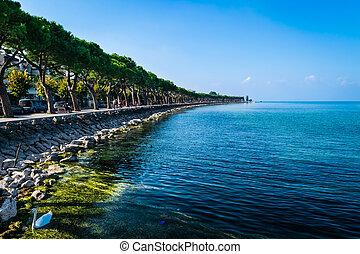 lago, garda, paisagem, itália
