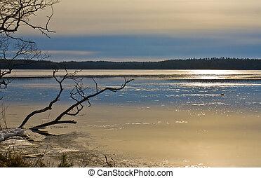 lago, gelo