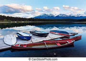 lago, in, jasper parco nazionale