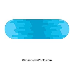 lago, isolated., azul, claro, lago, blanco, fondo., vector, ilustración
