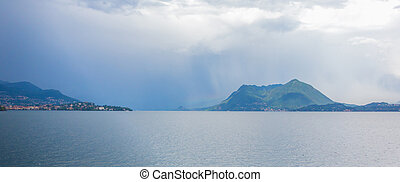 Lago Maggiore and the southern Alps, Northern Italy