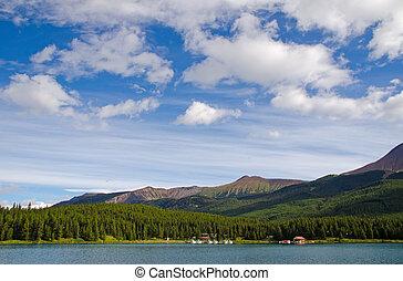 lago maligne, in, jasper parco nazionale