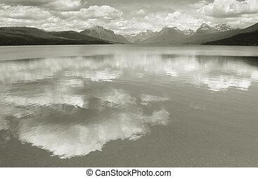 lago, mcdonald--homage, a, ansel, adams