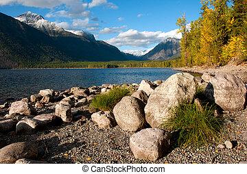 lago mcdonald, parque nacional del glaciar