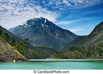 lago, montagna