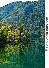 lago montagna, in, canada