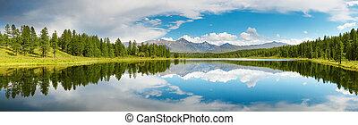 lago, montanha