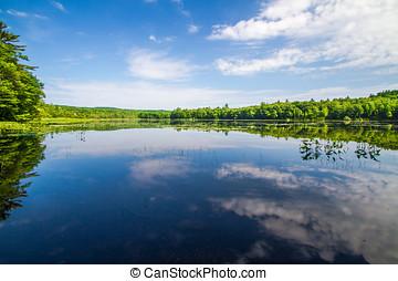 lago montanha, calmo