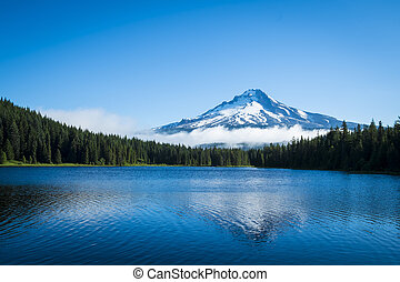 lago montanha, mt., oregon, capuz