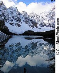 lago moraine, reflexão