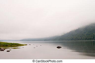 lago, nebuloso