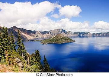 lago, oregón, cráter