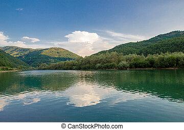 lago, paisagem