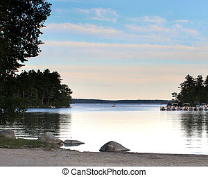 lago, paisaje