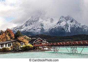 lago pehoe, parque nacional, torres del paine, chile