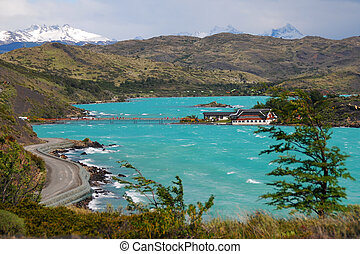 Lago Pehoe - Torres del Paine National Park - Patagonia...