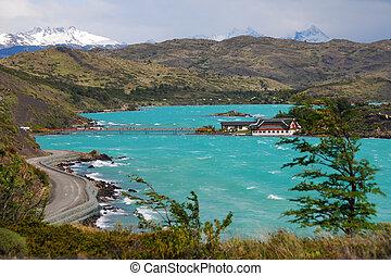 lago, pehoe, -, torres paine national park de supr, -,...