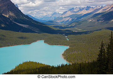 lago peyto, parque nacional banff