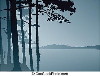 lago, puesto de vigilancia