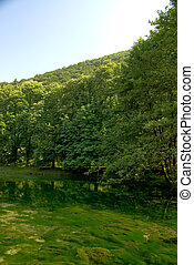 lago, puro, naturaleza