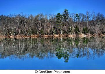 lago, reflexões