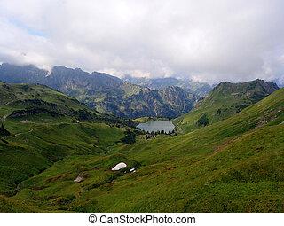 lago, seealpsee, alpin, bavaria